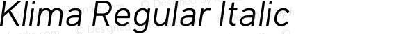 Klima Regular Italic
