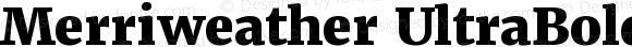 Merriweather UltraBold UltraBold