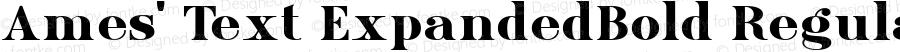 Ames' Text ExpandedBold Regular Version 1.000;PS 001.000;hotconv 1.0.70;makeotf.lib2.5.58329