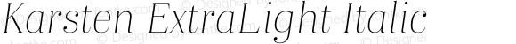 Karsten ExtraLight Italic