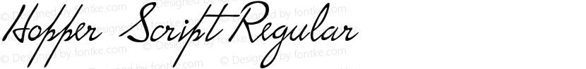 Hopper Script Regular Preview Image