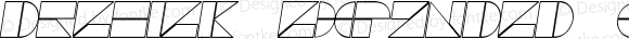 Drebiek Expanded Outline Italic