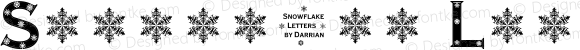 Snowflake Letters Extra-expanded