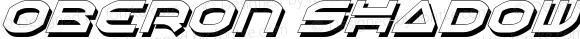 Oberon Shadow Italic Shadow Italic