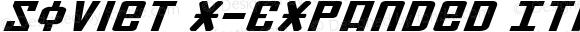 Soviet X-Expanded Italic X-Expanded Italic