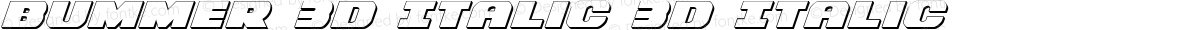 Bummer 3D Italic 3D Italic