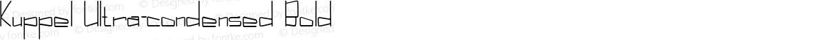Kuppel Ultra-condensed Bold