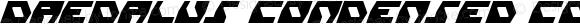 Daedalus Condensed Condensed Italic