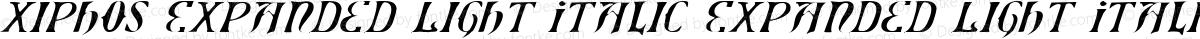 Xiphos Expanded Light Italic Expanded Light Italic