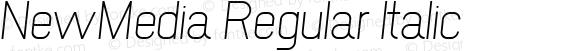 NewMedia Regular Italic