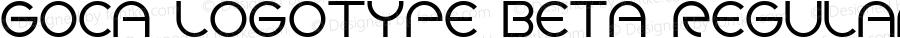 Goca logotype beta Regular Version 1.000