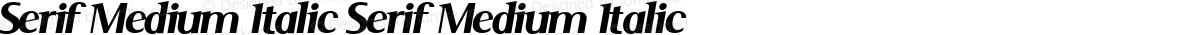 Serif Medium Italic Serif Medium Italic