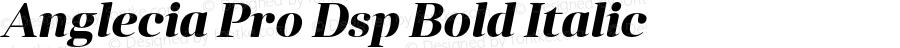 Anglecia Pro Dsp Bold Italic Version 001.000