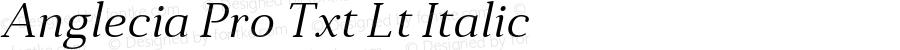 Anglecia Pro Txt Lt Italic Version 001.000