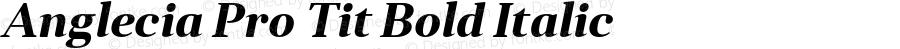 Anglecia Pro Tit Bold Italic Version 001.000