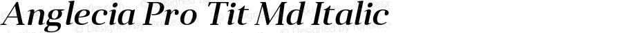 Anglecia Pro Tit Md Italic Version 001.000