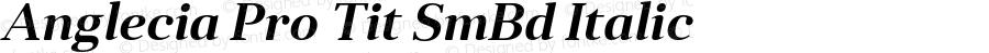 Anglecia Pro Tit SmBd Italic Version 001.000