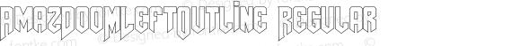 AmazDooMLeftOutline Regular Version 1.00 November 28, 2009, initial release