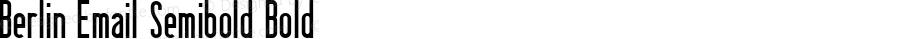 Berlin Email Semibold Bold Version 000.000