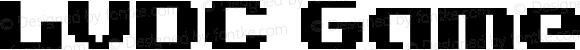 LVDC Game Over 2 Regular Macromedia Fontographer 4.1J 04.3.22