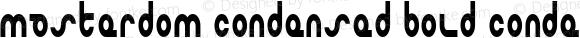 Masterdom Condensed Bold Condensed Bold