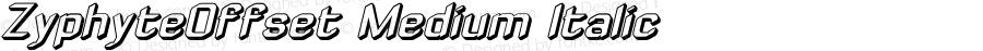 ZyphyteOffset Medium Italic 1.0 2003-10-24