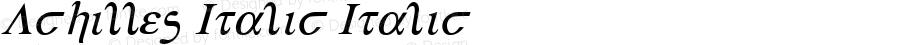 Achilles Italic Italic 2