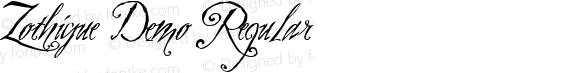 Zothique Demo Regular Altsys Fontographer 4.0.3 5/18/99