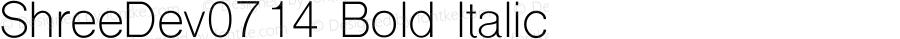 ShreeDev0714 Bold Italic 9.0d2e1