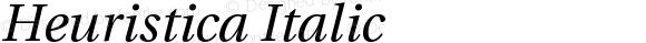 Heuristica Italic
