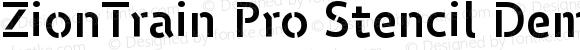 ZionTrain Pro Stencil Demibold Regular Version 2.000