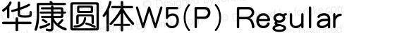 华康圆体W5(P) Regular