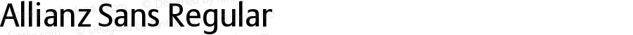 Allianz Sans Regular Version 1.20