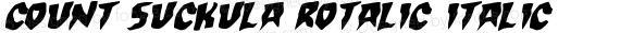 Count Suckula Rotalic Italic preview image