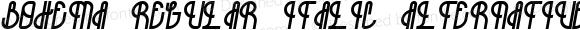 Bohema-Regular-Italic-Alternative ☞ Version 001.001 ;com.myfonts.onrepeat.bohema.italic-alt.wfkit2.3BwE