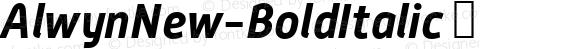 AlwynNew-BoldItalic ☞ Version 5.000;com.myfonts.moretype.alwyn-new.bold-italic.wfkit2.3ugH