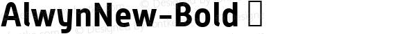 AlwynNew-Bold ☞ Version 5.000;com.myfonts.moretype.alwyn-new.bold.wfkit2.3ugK