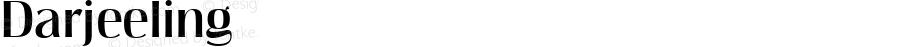 Darjeeling ☞ Version 1.000;com.myfonts.easy.facetype.darjeeling.plain.wfkit2.version.3oVg