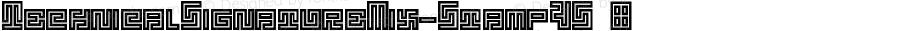 TechnicalSignatureMix-StampVS ☞ Version 1.000;com.myfonts.easy.mmc-typodrome.technical-signature.mix-stamp-vs.wfkit2.version.4mpP