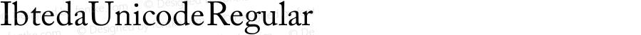 Ibteda Unicode Regular Version 1.00