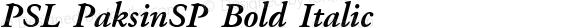 PSL PaksinSP Bold Italic Series 1, Version 3.0, for Win 95/98/ME/2000/NT, release December 2000.