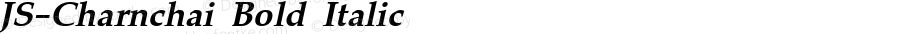 JS-Charnchai Bold Italic Version 1.000 2006 initial release