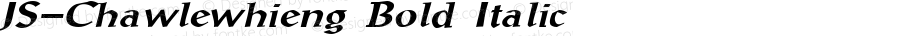 JS-Chawlewhieng Bold Italic Version 1.000 2006 initial release