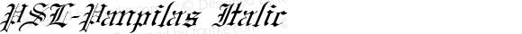 PSL-Panpilas Italic Version 1.000 2006 initial release