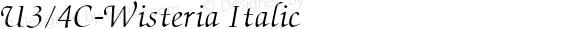 UPC-Wisteria Italic 10.2