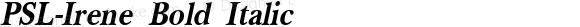 PSL-Irene Bold Italic Version 1.000 2006 initial release