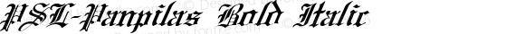PSL-Panpilas Bold Italic Version 1.000 2006 initial release