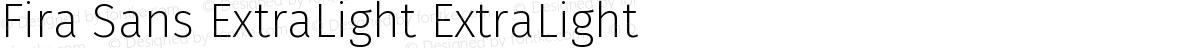 Fira Sans ExtraLight ExtraLight