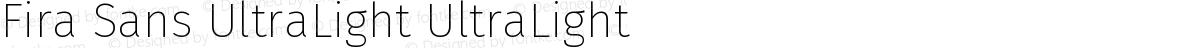 Fira Sans UltraLight UltraLight