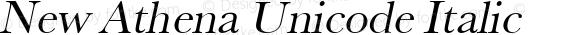New Athena Unicode Italic
